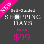 Custom self-guided shopping day - only $99