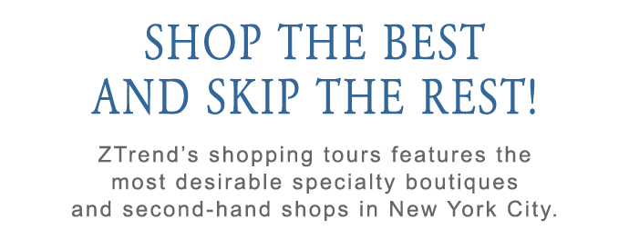 New York City Vintage and second-hand Shopping Tours